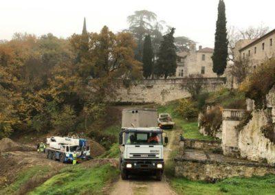 Station d'épuration AQUAmax Pro G 60 EH dans un monastère près de Agen