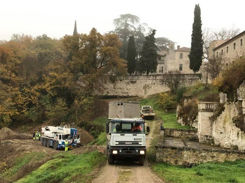 Station d'épuration AQUAmax Pro G 60 EH dans un monastère près d'Agen