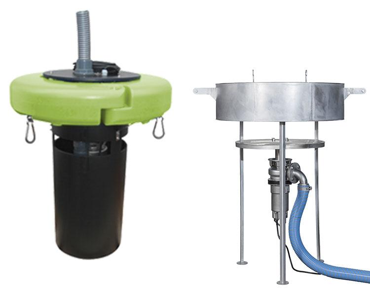 décanteurs et déversoirs flottants pour micro-stations SBR