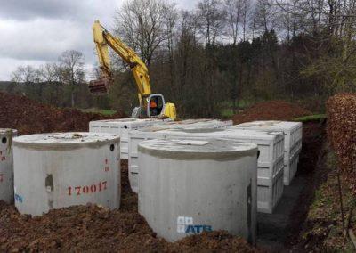 Station d'épuration SBR en beton dans les Ardennes - ATB France